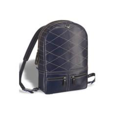 Синий кожаный рюкзак-трансформер Brialdi Joker