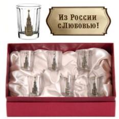 Набор из 6 стопок Кремль. Из России с любовью!