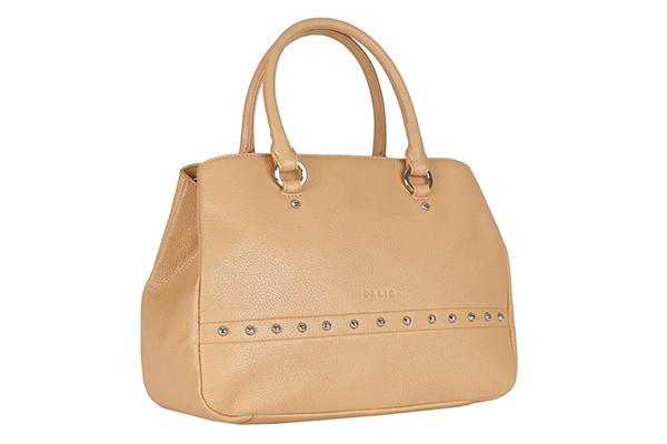 Бежевая женская сумка Palio из натуральной кожи