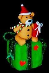 Новогодний сувенир Мишка с подарками