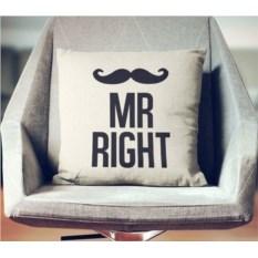 Декоративная наволочка Mr. Right