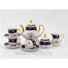 Чайный сервиз Букет цветов на 12 персон (27 предметов)