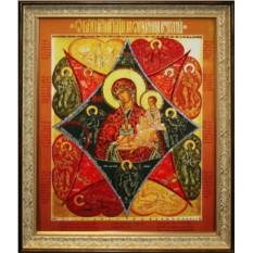 Икона Неопалимая купина с кристаллами Swarovski