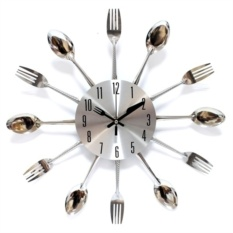 Часы Вилки ложки по кругу, металл