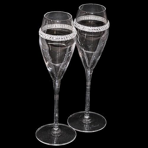 Набор бокалов для шампанского Тонкая линия
