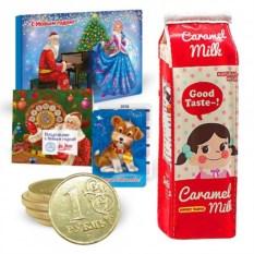 Новогодний подарочный набор с пеналом Пакет молока