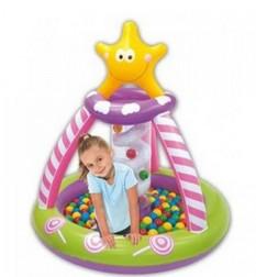 Надувной бассейн с шарами