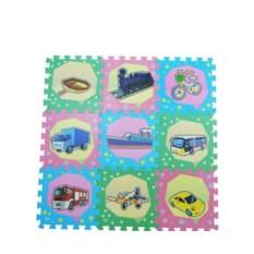 Детский коврик-пазл Транспорт