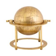 Настольный декоративный глобус из металла диаметром 21 см