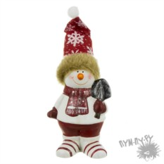 Статуэтка Снеговичок с лопатой