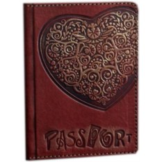 Обложка для паспорта Узорное сердце