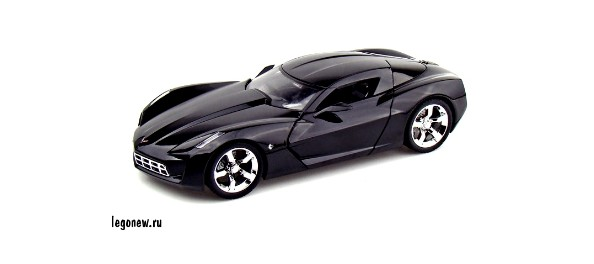 Модель автомобиля 2009 Corvette Stingray Concept Black