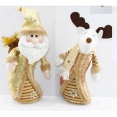 Новогодний сувенир Дед Мороз и лосик