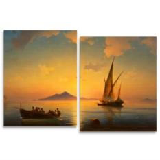 Модульная картина Айвазовский. Неаполитанский залив