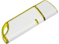 Флеш-карта USB 2.0 на 4 Gb, бело-желтая