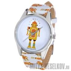 Часы Mitya Veselkov Влюбленный робот с желтым роботом