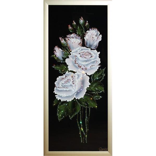 Картина с кристаллами Swarovski Роза