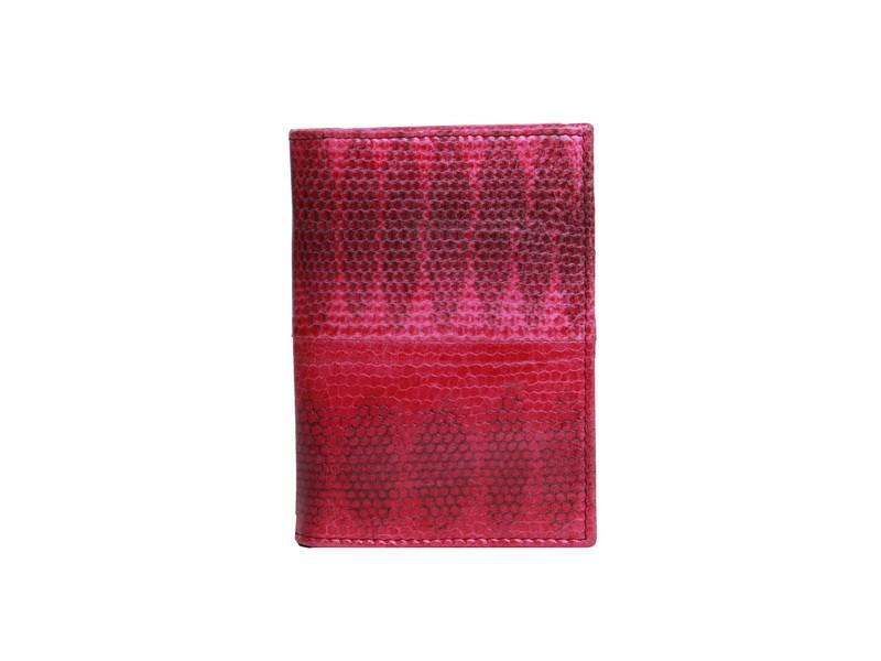 Обложка для паспорта из кожи змеи, розовая