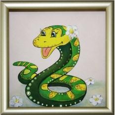 Картина с кристаллами Swarovski Наслаждение в год змеи