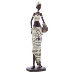 Декоративная фигурка Африканка с кувшином высотой 34,5 см