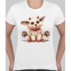 Женская футболка Котик-чертик