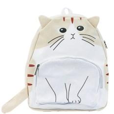Бежевый рюкзак с ушками Кот