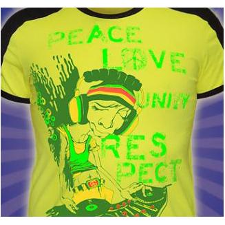 Футболка good «PEACE LOVE UNITY» светится в УФ