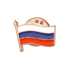 Значок Российский триколор (позолоченное серебро)