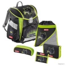 Черно-зеленый школьный ранец Step by Step School Touch