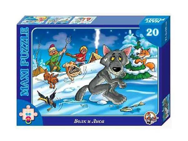 Пазл-макси Волк и лиса, Десятое Королевство