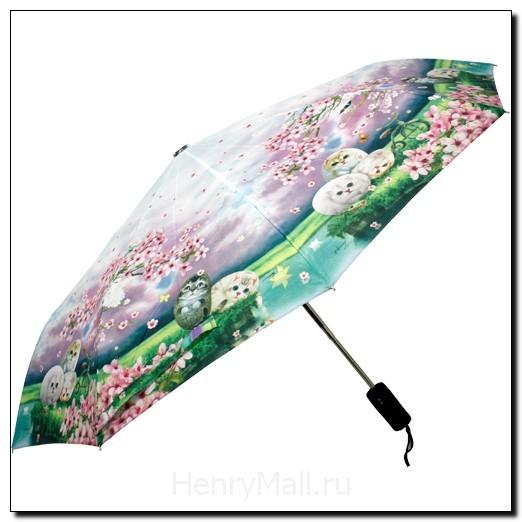 Зонт-автомат многосекционный «Цветы вишни»