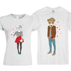 Парные футболки Cat and Dog