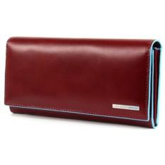 Женское красное портмоне Piquadro Blue Square