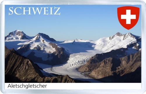 Магнит на холодильник: Швейцария. Ледник Алеч