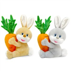 Мягкая игрушка Заяц с большой морковкой (18 см)
