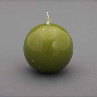 Свеча «Шар» d=6 см.лакированная оливковая
