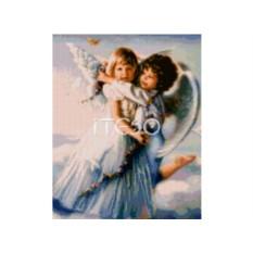 Набор для вышивки стразами «Светлые ангелочки»