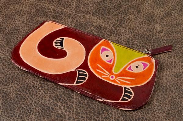 Кошелек. Коллекция Socotra Кошка (коричневый)