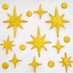 Снежинки золотые