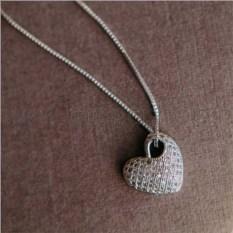Кулон «Влюбленность» с сердцем-подвеской из кристаллов