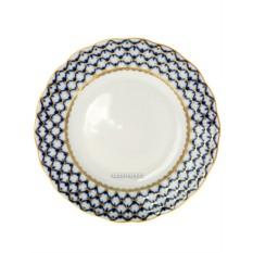 Десертная фарфоровая тарелка формы Тюльпан