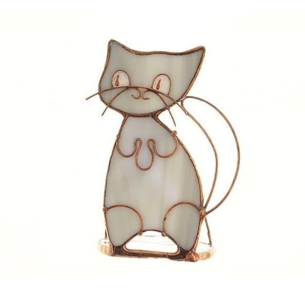 Подсвечник «Серый кот»