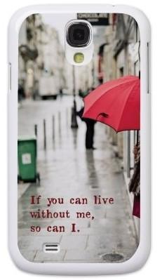Чехол-накладка для Samsung S4 i9500, красный зонт