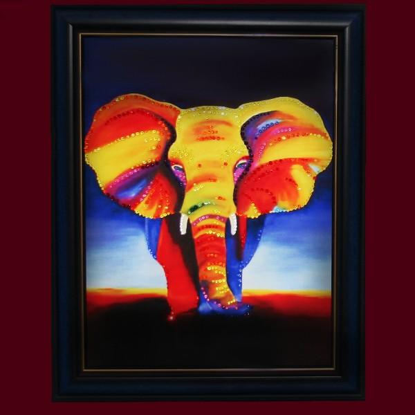Картина Сваровски Слон