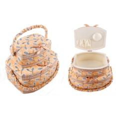 Набор нежно-розовых шкатулок для рукоделия