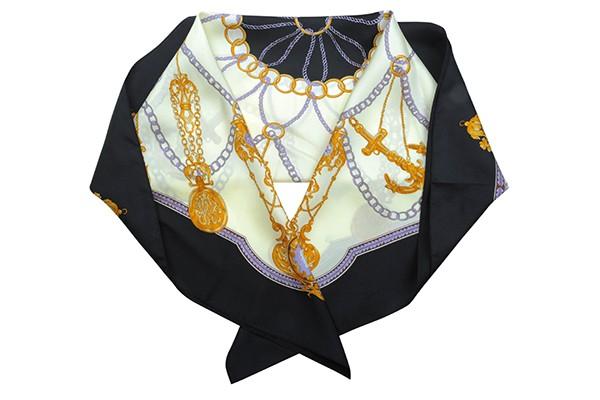 Черный женский платок Leo Ventoni (шелк)