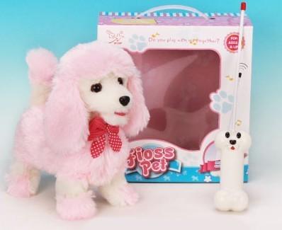Радиоуправляемая плюшевая собака Пудель
