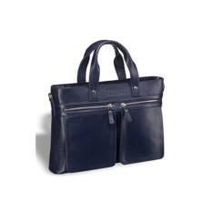 Деловая синяя сумка для документов Bosa