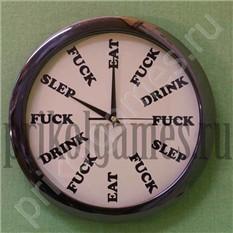 Настенные часы Eat drink fuck, большие
