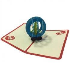 Объемная открытка Ёлочные игрушки